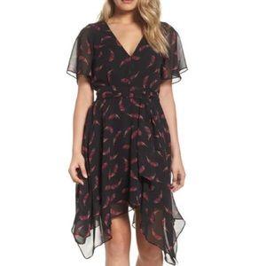NWT Sam Edelman Black Feather Dress